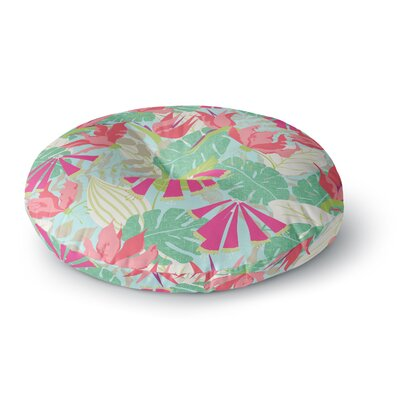 Jacqueline Milton Tropicana Round Floor Pillow Size: 23 x 23, Color: Pink/Green