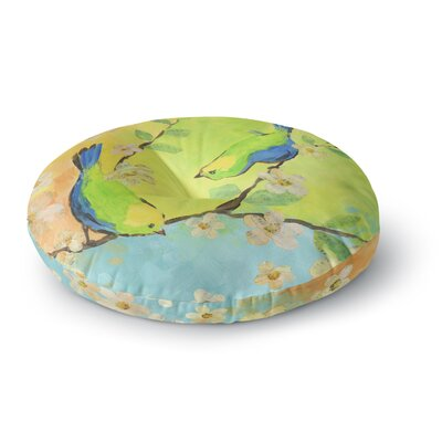Jacqueline Milton Song Birds Round Floor Pillow Size: 26 x 26
