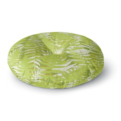 Jacqueline Milton Fun Fern Citrus Round Floor Pillow Size: 26 x 26, Color: Green
