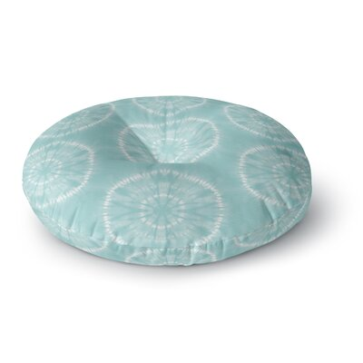 Jacqueline Milton Shibori Circles Candy Mixed Media Round Floor Pillow Size: 23 x 23, Color: Teal