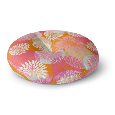 Jacqueline Milton Flower Power Illustration Round Floor Pillow Size: 26 x 26