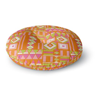 Jacqueline Milton Heatwave Hot Illustration Round Floor Pillow Size: 26 x 26, Color: Orange/Pink