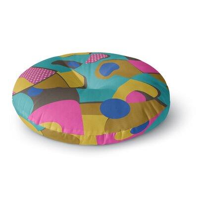 Jacqueline Milton Free-Form Vector Round Floor Pillow Size: 26 x 26