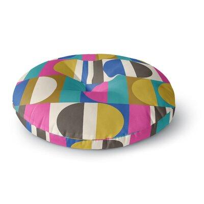 Jacqueline Milton Geotech Digital Round Floor Pillow Size: 23 x 23