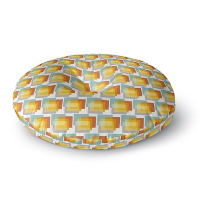 Juliana Motzko Geo 1 Round Floor Pillow Size: 23 x 23