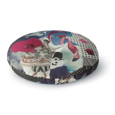 Jina Ninjjaga Flamingo Attack Pop Art Round Floor Pillow Size: 23