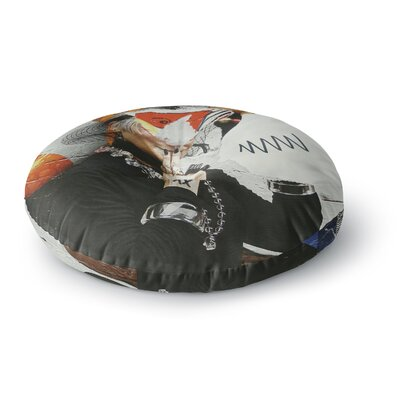 Jina Ninjjaga Style Pop Art Round Floor Pillow Size: 26