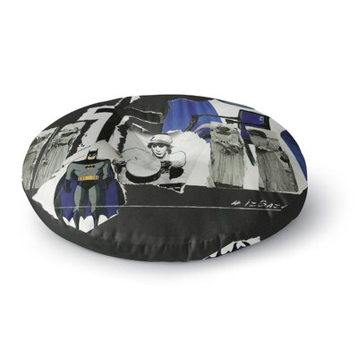 Jina Ninjjaga Batman Illustration Round Floor Pillow Size: 23 x 23