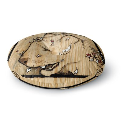 Jennie Penny Panther Round Floor Pillow Size: 26 x 26