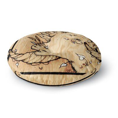 Jennie Penny Ram Round Floor Pillow Size: 23 x 23