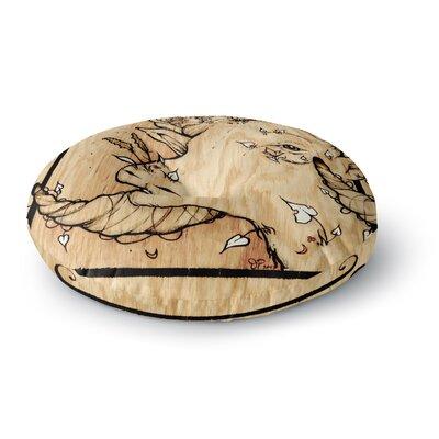 Jennie Penny Ram Round Floor Pillow Size: 26 x 26