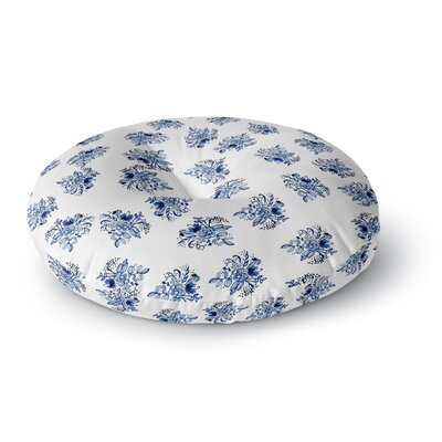 Jennifer Rizzo Garden Flowers Floral Round Floor Pillow Size: 26 x 26