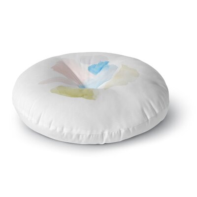 Jennifer Rizzo Confetti Watercolor Abstract Round Floor Pillow Size: 23 x 23