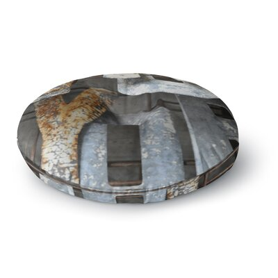 Jennifer Rizzo Patina Letters Round Floor Pillow Size: 26 x 26