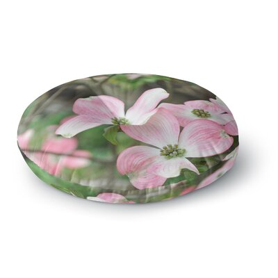 Jennifer Rizzo Spring Flowering Dogwood Round Floor Pillow Size: 23 x 23