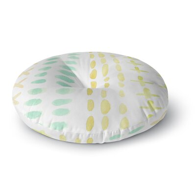 Jennifer Rizzo Dots And Dashes Round Floor Pillow Size: 23 x 23