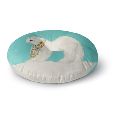 Jennifer Rizzo Chilly Snow Bear Round Floor Pillow Size: 23 x 23