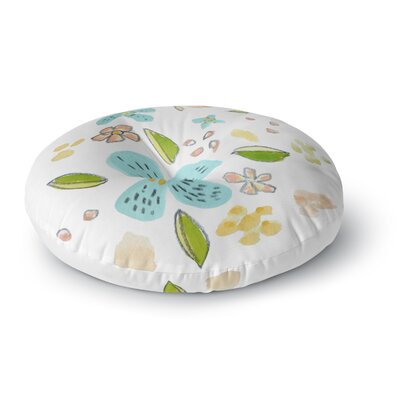 Jennifer Rizzo Happy Flower Dance Floral Round Floor Pillow Size: 23