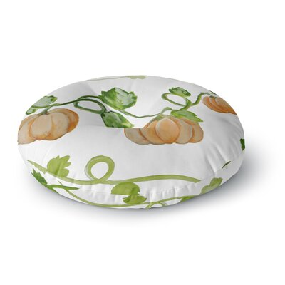 Jennifer Rizzo Trio Of Fall Pumpkins Painting Round Floor Pillow Size: 23 x 23