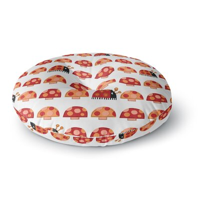 Jane Smith Garden Ladybugs Round Floor Pillow Size: 23 x 23