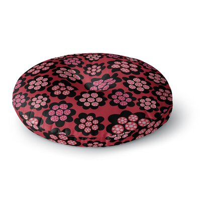 Jane Smith Garden Pods Repeat Floral Round Floor Pillow Size: 26 x 26