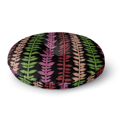 Jane Smith Garden Vine and Leaf Rainbow Vines Round Floor Pillow Size: 26 x 26