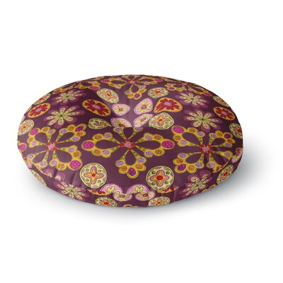 Jane Smith Indian Jewelry Floral Round Floor Pillow Size: 23 x 23