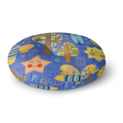 Jane Smith Lightning Bug Round Floor Pillow Size: 26 x 26