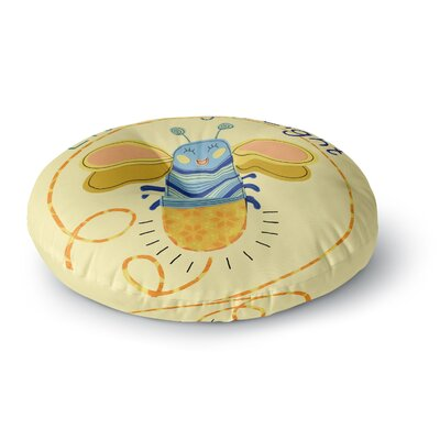 Jane Smith Little Night Bug Round Floor Pillow Size: 26 x 26
