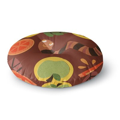 Jane Smith Autumn Repeat Bugs Round Floor Pillow Size: 23 x 23