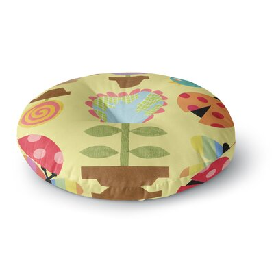 Jane Smith Spring Repeat Round Floor Pillow Size: 26 x 26