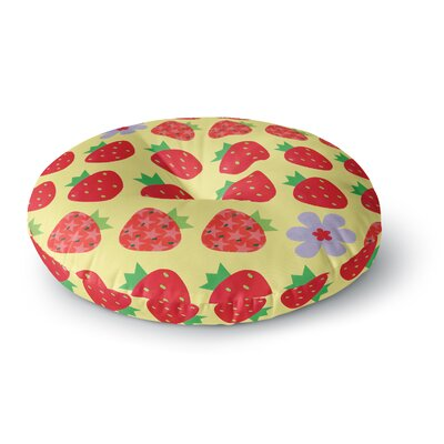 Jane Smith Seasons Summer Round Floor Pillow Size: 26 x 26