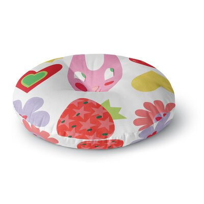 Jane Smith Summer Repeat Round Floor Pillow Size: 26 x 26