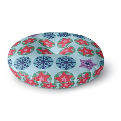 Jane Smith Seasons Winter Round Floor Pillow Size: 26 x 26