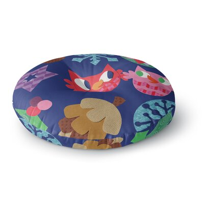 Jane Smith Winter Repeat Round Floor Pillow Size: 26 x 26