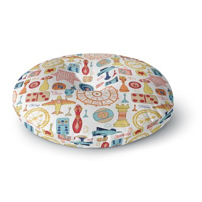 Jane Smith Vintage Games Round Floor Pillow Size: 26 x 26