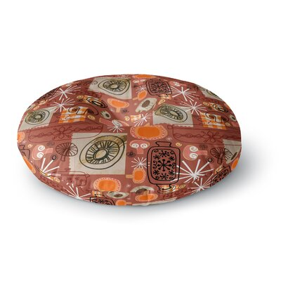 Jane Smith Vintage Kitchen Round Floor Pillow Size: 26 x 26