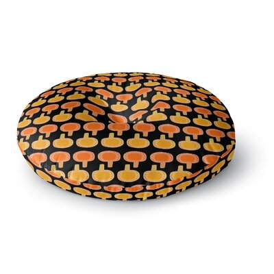 Jane Smith Vintage Mushroom Round Floor Pillow Size: 26 x 26