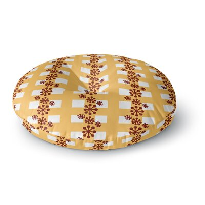 Jane Smith Mushroom Repeat Round Floor Pillow Size: 26 x 26