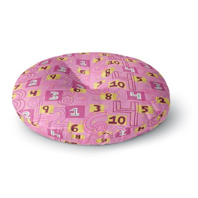 Jane Smith Vintage Playground II Round Floor Pillow Size: 23 x 23