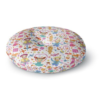 Jane Smith Vintage Playground IIII Rainbow Round Floor Pillow Size: 26 x 26
