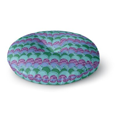 Jane Smith Woodland Waves Round Floor Pillow Size: 23 x 23