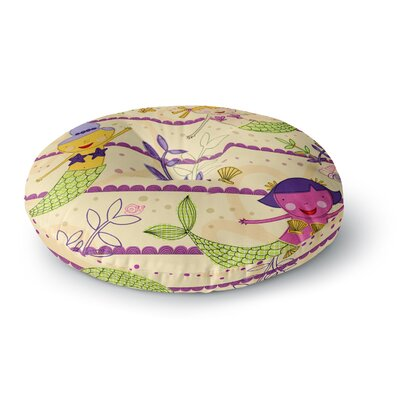 Jane Smith Under the Sea Round Floor Pillow Size: 23