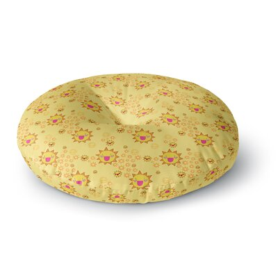 Jane Smith It's All Sunshine Pattern Round Floor Pillow Size: 23