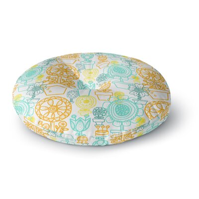 Jane Smith Potted Florals Round Floor Pillow Size: 26 x 26