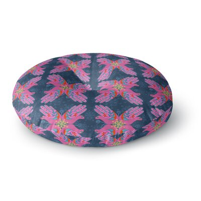 Jane Smith Hamsa  Pattern Round Floor Pillow Size: 26 x 26