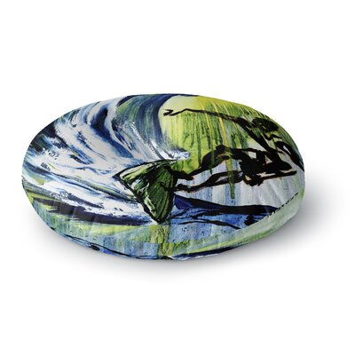 Josh Serafin Greenroom Round Floor Pillow Size: 26 x 26