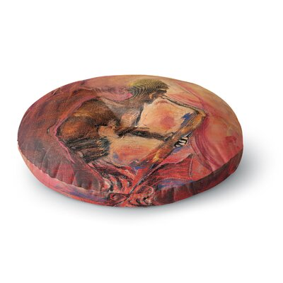 Josh Serafin Catch the Wind Round Floor Pillow Size: 26 x 26
