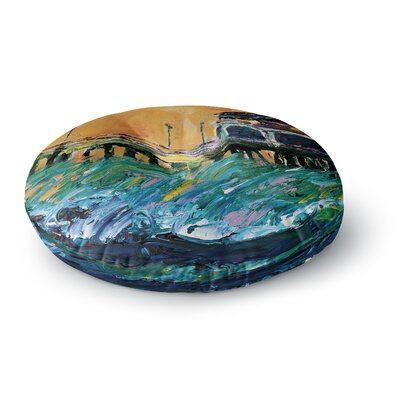 Josh Serafin Offshore Beauty Round Floor Pillow Size: 26 x 26