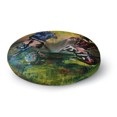 Josh Serafin Slidetackle Round Floor Pillow Size: 26 x 26